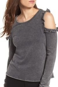 Love,fire cold shoulder sweater